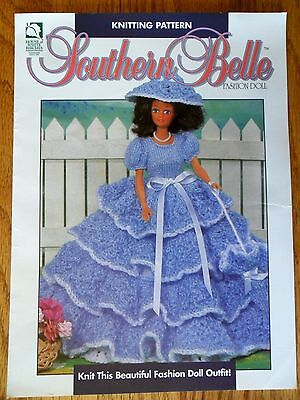 Southern Belle Fashion Doll Outfit Knitting Pattern House of White Birches 1995 - Southern Belle Outfit