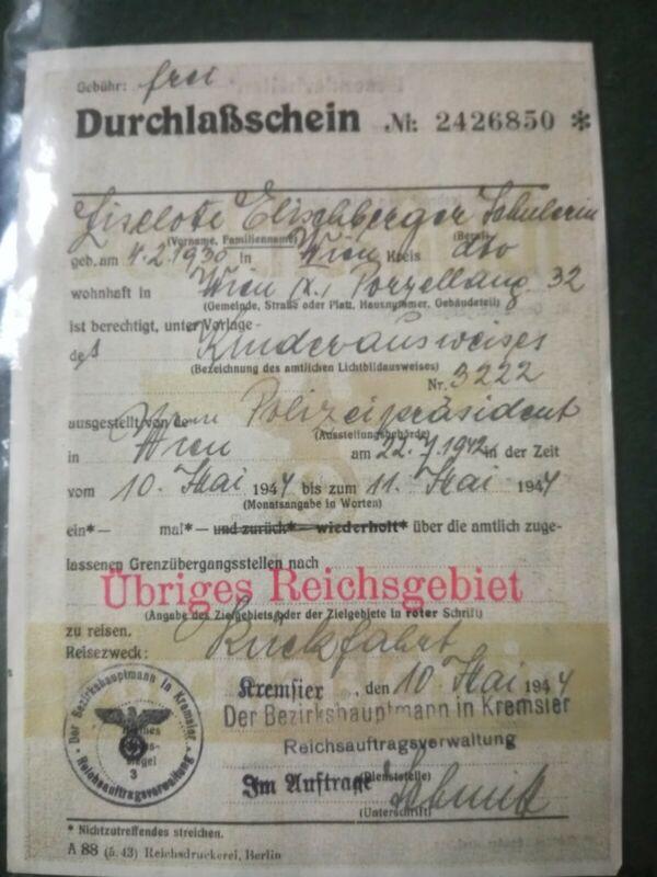WW2 German Mortgage Document.