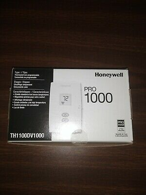 Honeywell Non-programmable Led Wall Thermostat Th1100dv1000