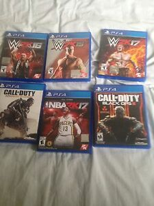PS4 games for sale !