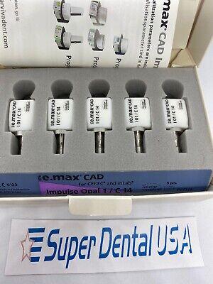 Cerec Emax I01 C14. Ivoclar. Five Total Blocks Impulse Probe Blocks