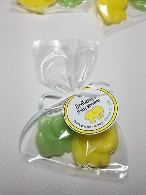Elephant Soap Baby Shower Favors Personalized Tags Party Jungle or Zoo Theme 10 (Jungle Themed Baby Shower Favors)
