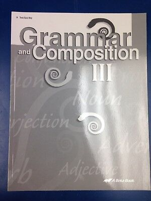 Abeka Grammar And Composition Test/Quiz Teacher Key 9th Grade 4th Edition Book for sale  Inman