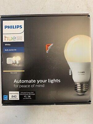 Philips Hue 455287 White A19 2-Bulb Starter Kit  OPEN BOX