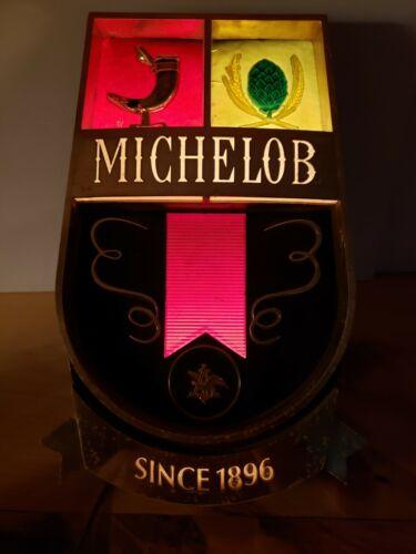 Vintage 1960s MICHELOB Anheuser Busch - Lighted Beer Bar Sign - Works!