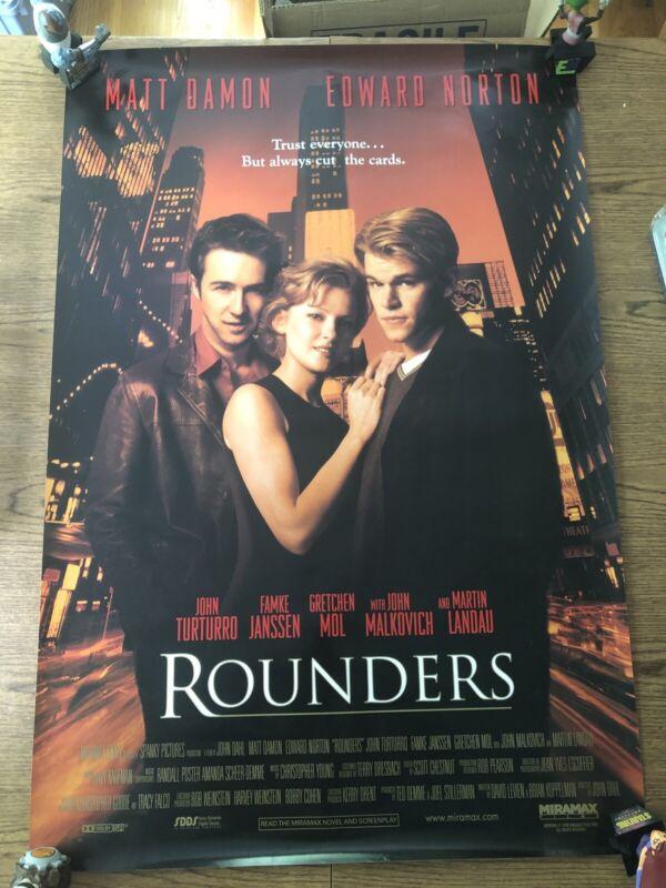 Rounders Original One Sheet 27x40 Single Sided Damon Norton Poker Final