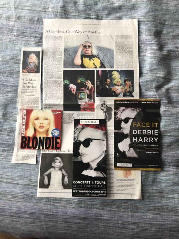 DEBBIE HARRY NY Times Clipping Book Release Program Flyer CD Set BLONDIE FACE IT