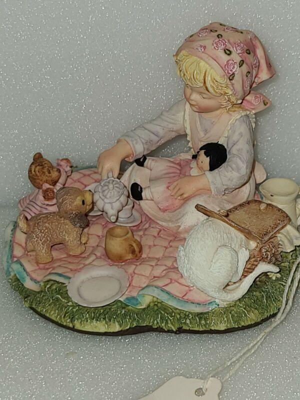 1990 Lauras Attic Who Wants Tea Figurine By Enesco