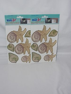 Home Decor Blogs Uk Wall Art Self Adhesive Decals Sea Shells Washable Fade Resistant New Lot Of 2 Discount Home Decor Fabric By The Yard