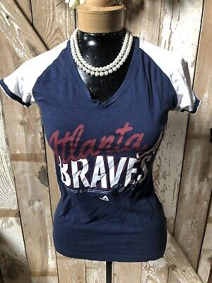 Women's Atlanta Braves Cotton Shirt by Majestic (Small) for sale  Mineral Bluff