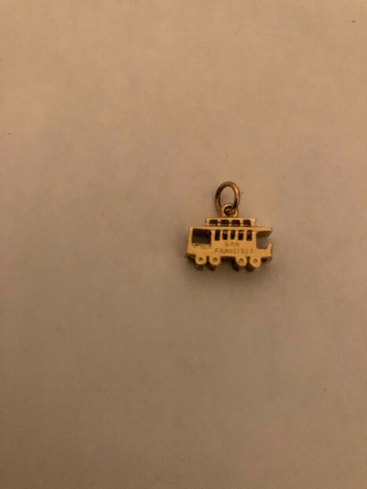 14kt Yellow Gold 3D Handmade High Polished San Francisco Cable Car Pendant New - $105.00