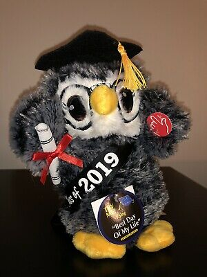 2019 DANDEE SINGING DANCING GRADUATION GIFT OWL BEST DAY OF MY LIFE PLUSH