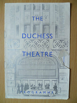 DUCHESS THEATRE Programme First Presented 1953- THE RETURN by Bridget Boland