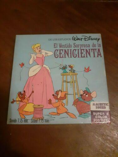 Cinderella super 8 movie film Walt Disney Original antique