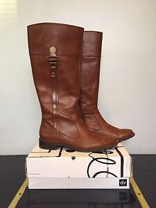 Anne Klein Leather Riding Boots - 9.5