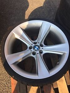"Staggered 21"" genuine BMW wheels and falken tire"
