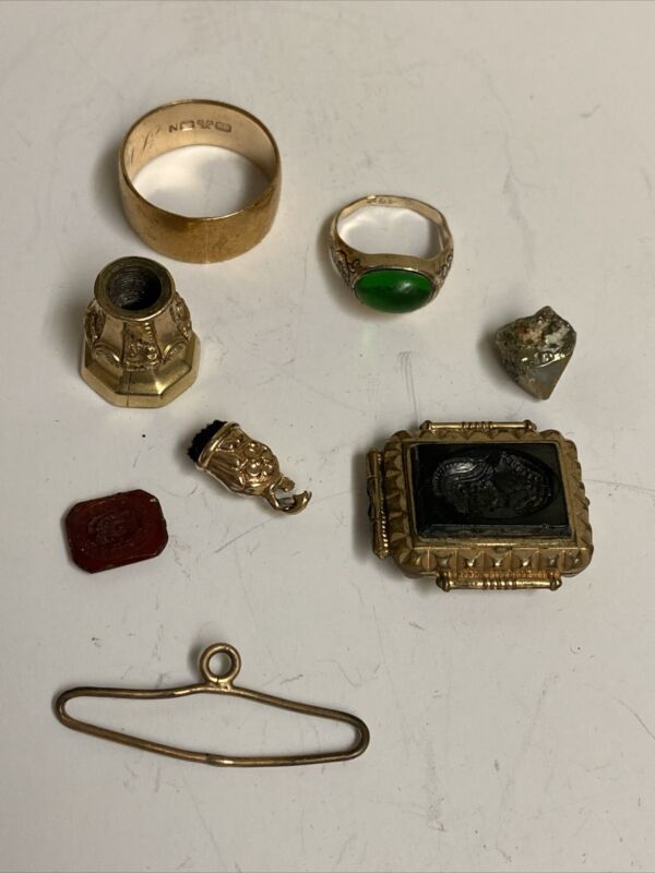 Lot of Antique Gold Filled Items, Parts and Pieces
