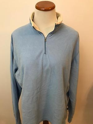 "ALF KUHL light blue ""Micro Chamois"" Fleece 1/2 zip pullover jacket Women"