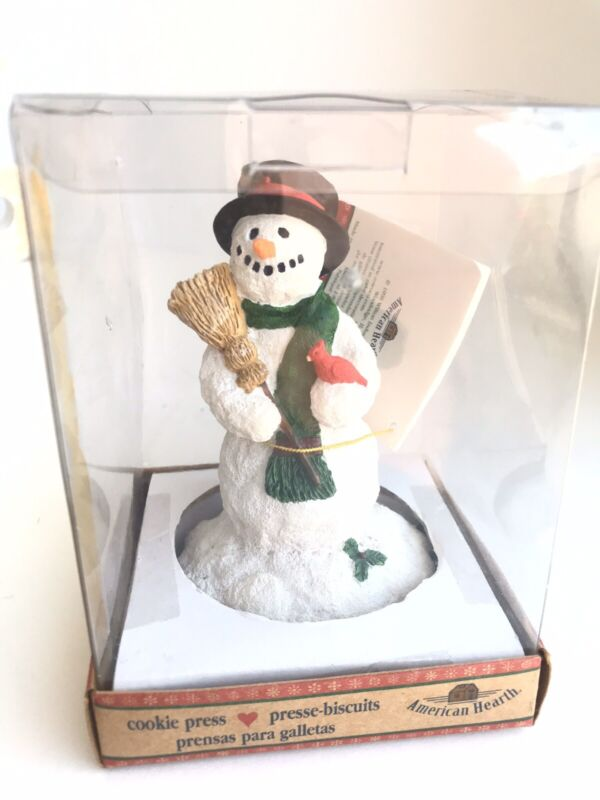 Vintage American Hearth Cookie Press Snowman New In Box Free Shipping
