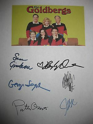 The Goldbergs Signed TV Script Jeff Garlin McLendon-Covery Segal Oswalt reprint
