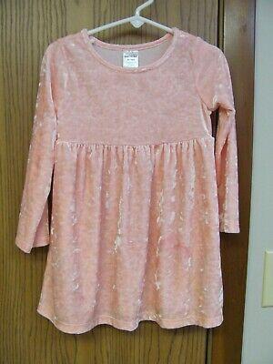 Healthtex Toddler Pink Frost Velvet Long Sleeve Dress Size 3T