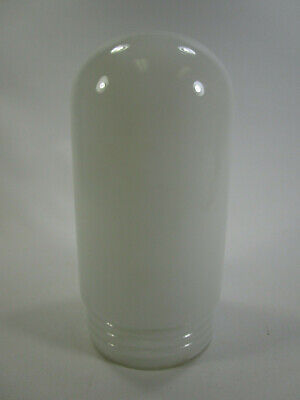 Vintage Industrial Explosion Proof White Milk Glass Globe Light Fixture