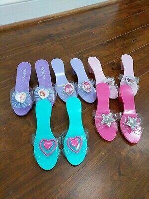 Disney Princess Dress Up Shoes LOT 5 pairs barbie ariel girl pretend play