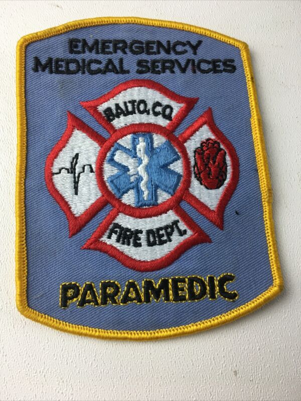 Balto Co Fire Dept Paramedic Emergency Medical Services Patch