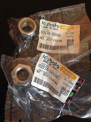 Nut Self-locking Kubota Genuine Oem Part 02576-50180 New In Package Lot Of 2