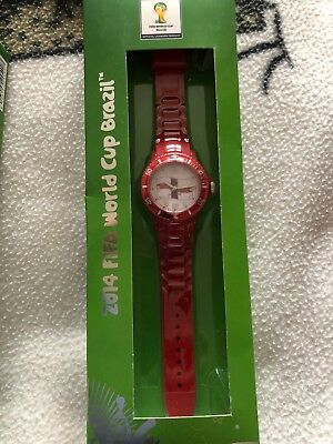 England Watch 2014 Fifa World Cup Brazil White And Red Watches
