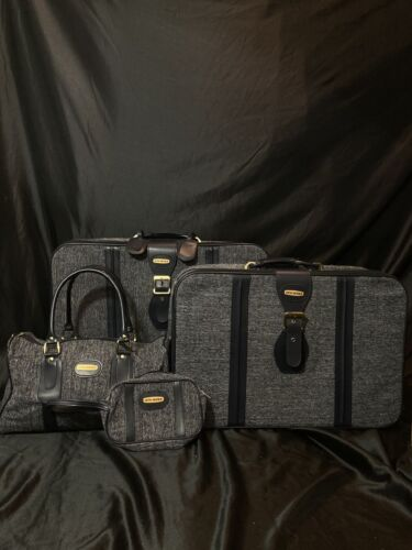 Fifth Avenue Navy Blue Suitcase Travel Packable Rolling 4pc Luggage Set - $239.00