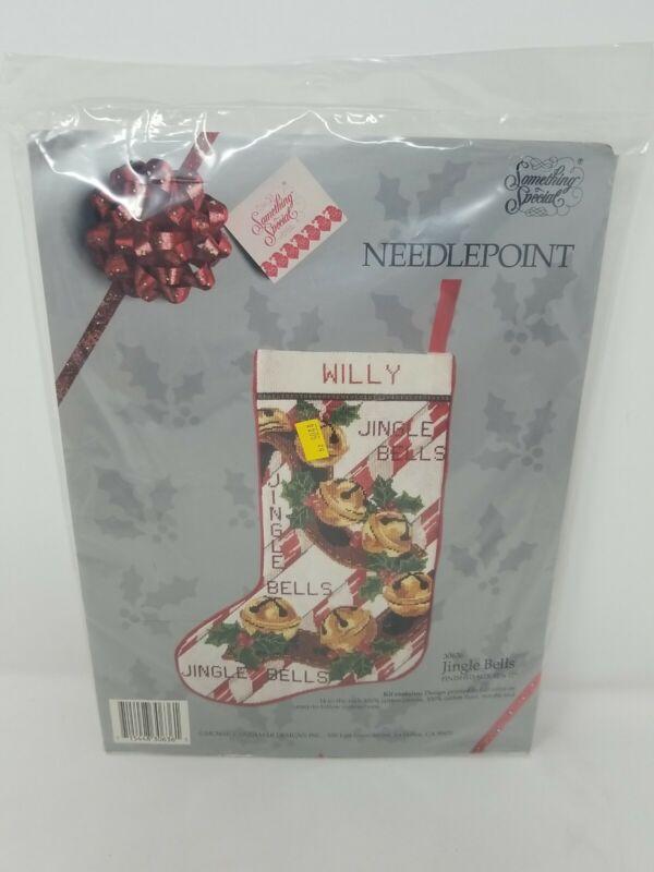 New Something Special Candamar Jingle Bells Christmas Stocking KIT Needlepoint