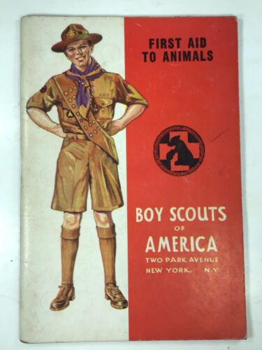 Vintage 1939 Boy Scouts First Aid To Animals Book