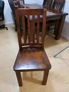 Wooden dinning table and 6 chairs Sutherland Sutherland Area Preview