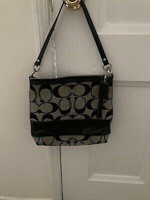 Coach Purse Black & Gray (Pre-Owned)