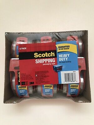 Scotch Brand 142-6 Heavy Duty Tape With Dispenser 6 Rolls - Clear