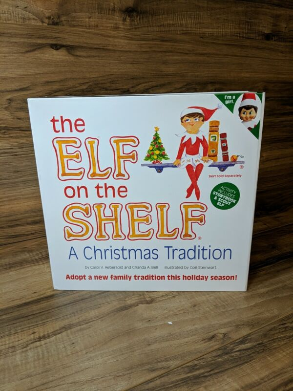 The Elf On the Shelf Christmas Tradition Book and Girl Doll with Blue Eyes