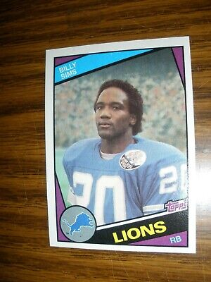 1984 Topps  #260  Billy Sims  Detroit Lions NrMT