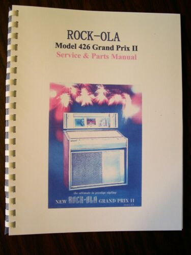 Rock-ola 426 Grand Prix II Jukebox Manual