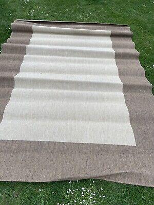 #1270 Large Thin Brown & Biege Floor Rug (295 cm x 200 cm)