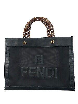 vintage FENDI MESH TOTE