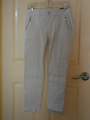 Whbm Jean Collection Skinny Crop Jeans With Utility Detail Please Choose Size