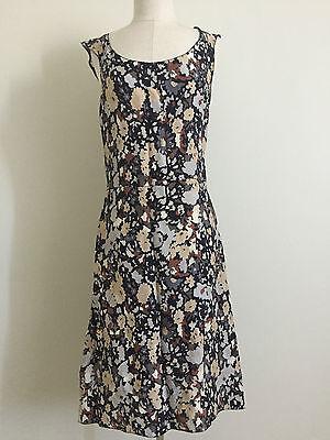 Joseph Christy Dawn Slim Silhouette Floral Camo Slip Dress Size 4 6