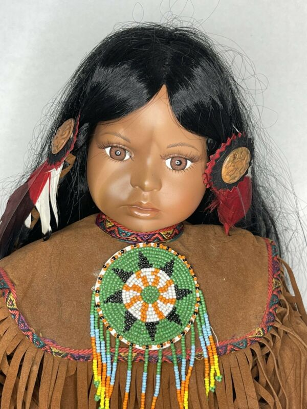 """Timeless Collection Native American """"Indian"""" Porcelain Doll 1252/2500"""