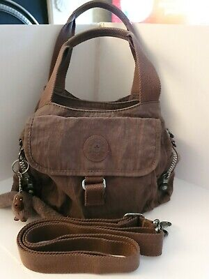 *KIPLING FAIRFAX* CLASSIC Brown Tote/Satchel With ●TERRY● Monkey~bag/handbag