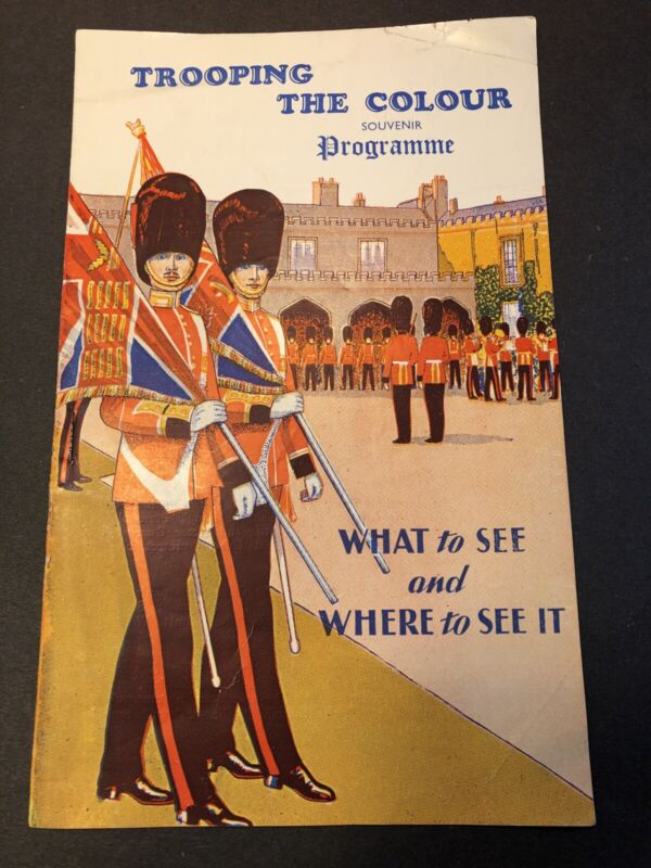 Trooping the Colour 1957 Queen Elizabeth II royal procession souvenir program