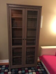 Beautiful Ikea Hemnes Cabinet with Glass Doors / Free Delivery