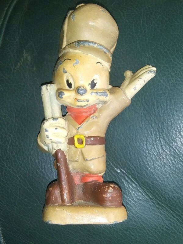 VINTAGE CAST IRON ELMER FUDD COIN BANK FIGURE. * Read...NOT COMPLETE*