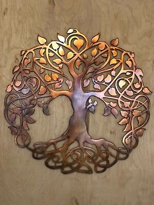 Tree of Life Copper Patina Finish Metal Wall Art Hanging