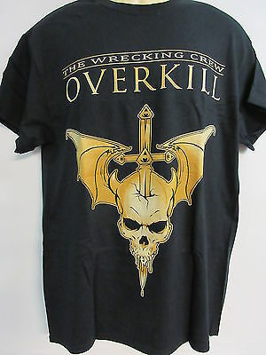 NEW - OVERKILL WRECKING CREW BAND / CONCERT / MUSIC T-SHIRT MEDIUM